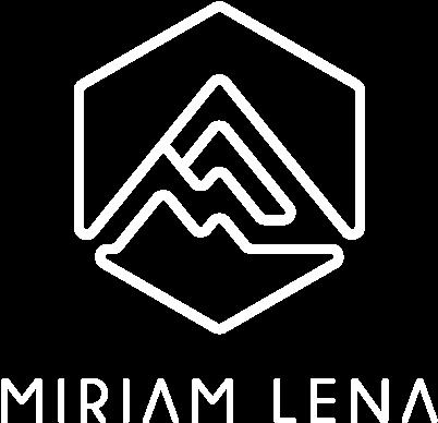 White Miriam Lena Logo